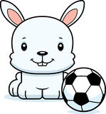 Cartoon Smiling Soccer Player Bunny Royalty Free Stock Photos