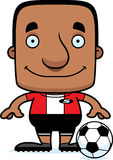 Cartoon Smiling Soccer Player Man Royalty Free Stock Image