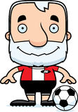 Cartoon Smiling Soccer Player Man Stock Image