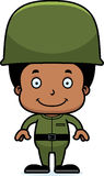 Cartoon Smiling Soldier Boy Stock Images