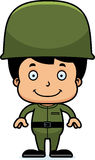 Cartoon Smiling Soldier Boy Royalty Free Stock Photography