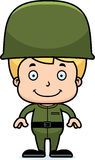 Cartoon Smiling Soldier Boy Stock Photography
