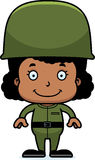 Cartoon Smiling Soldier Girl Royalty Free Stock Photo