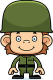 Cartoon Smiling Soldier Monkey Stock Photography
