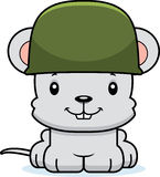 Cartoon Smiling Soldier Mouse Royalty Free Stock Images
