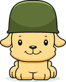 Cartoon Smiling Soldier Puppy Stock Photos