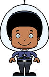 Cartoon Smiling Spaceman Boy Stock Image