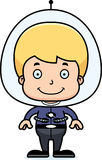 Cartoon Smiling Spaceman Boy Royalty Free Stock Images