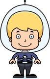 Cartoon Smiling Spaceman Boy Royalty Free Stock Images