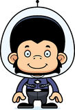 Cartoon Smiling Spaceman Chimpanzee Stock Photography