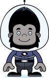 Cartoon Smiling Spaceman Gorilla Stock Photos