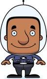 Cartoon Smiling Spaceman Man Royalty Free Stock Photos
