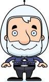 Cartoon Smiling Spaceman Man Royalty Free Stock Image