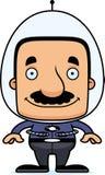 Cartoon Smiling Spaceman Man Stock Image