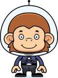 Cartoon Smiling Spaceman Monkey Stock Photo