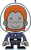 Cartoon Smiling Spaceman Orangutan Stock Image