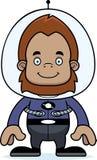 Cartoon Smiling Spaceman Sasquatch Royalty Free Stock Images