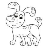 Cartoon smiling spotty puppy, naughty dog Stock Photos