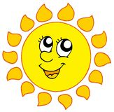 Cartoon smiling Sun Royalty Free Stock Image
