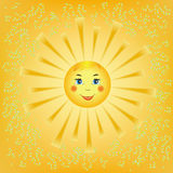 Cartoon smiling sun Stock Images