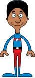 Cartoon Smiling Superhero Man Stock Photo