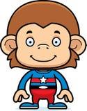Cartoon Smiling Superhero Monkey Stock Photo