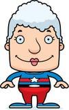 Cartoon Smiling Superhero Woman Royalty Free Stock Photos