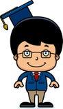 Cartoon Smiling Teacher Boy Stock Photography