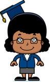 Cartoon Smiling Teacher Girl Royalty Free Stock Images