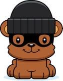 Cartoon Smiling Thief Bear Stock Image
