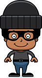 Cartoon Smiling Thief Boy Stock Photography