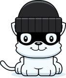 Cartoon Smiling Thief Kitten. A cartoon thief kitten smiling Royalty Free Stock Image