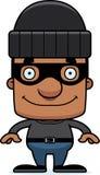 Cartoon Smiling Thief Man Stock Photo