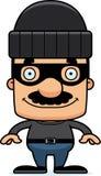 Cartoon Smiling Thief Man Stock Photos