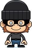 Cartoon Smiling Thief Monkey Royalty Free Stock Image