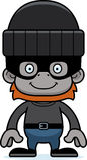 Cartoon Smiling Thief Orangutan Royalty Free Stock Photo