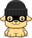 Cartoon Smiling Thief Puppy Stock Photos