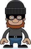 Cartoon Smiling Thief Sasquatch Stock Image