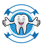 Cartoon Smiling tooth banner Royalty Free Stock Images