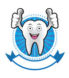 Cartoon Smiling tooth banner Royalty Free Stock Photo