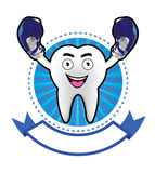 Cartoon Smiling tooth banner Stock Photography