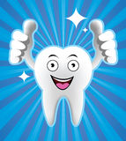 Cartoon Smiling tooth Stock Photography
