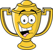Cartoon smiling trophy cup Royalty Free Stock Photo