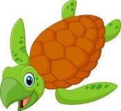 Cartoon smiling turtle Stock Photos