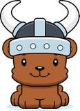 Cartoon Smiling Viking Bear Stock Image