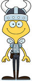 Cartoon Smiling Viking Bee Stock Images