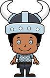 Cartoon Smiling Viking Boy Royalty Free Stock Photo