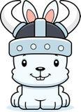 Cartoon Smiling Viking Bunny Royalty Free Stock Photos
