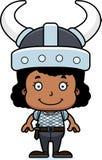Cartoon Smiling Viking Girl Royalty Free Stock Photo