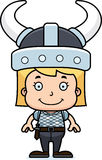 Cartoon Smiling Viking Girl Royalty Free Stock Images